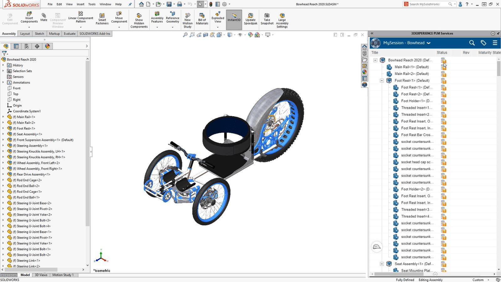 3DEXPERIENCE Plattform: Screenshot Bauteil