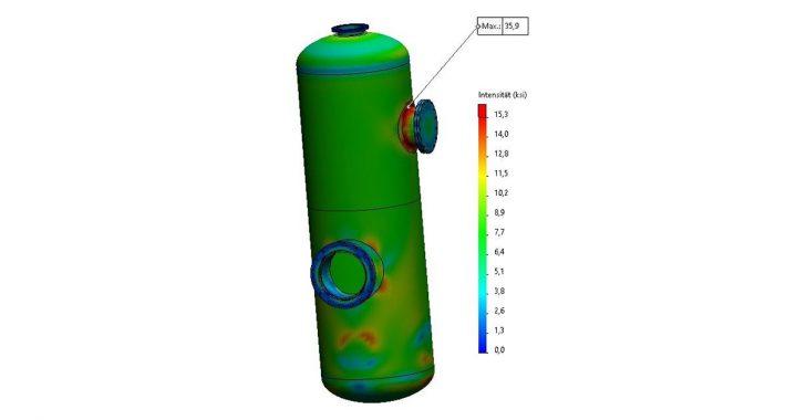 SOLIDWORKS Simulation: So konstruieren Sie einen Druckbehälter