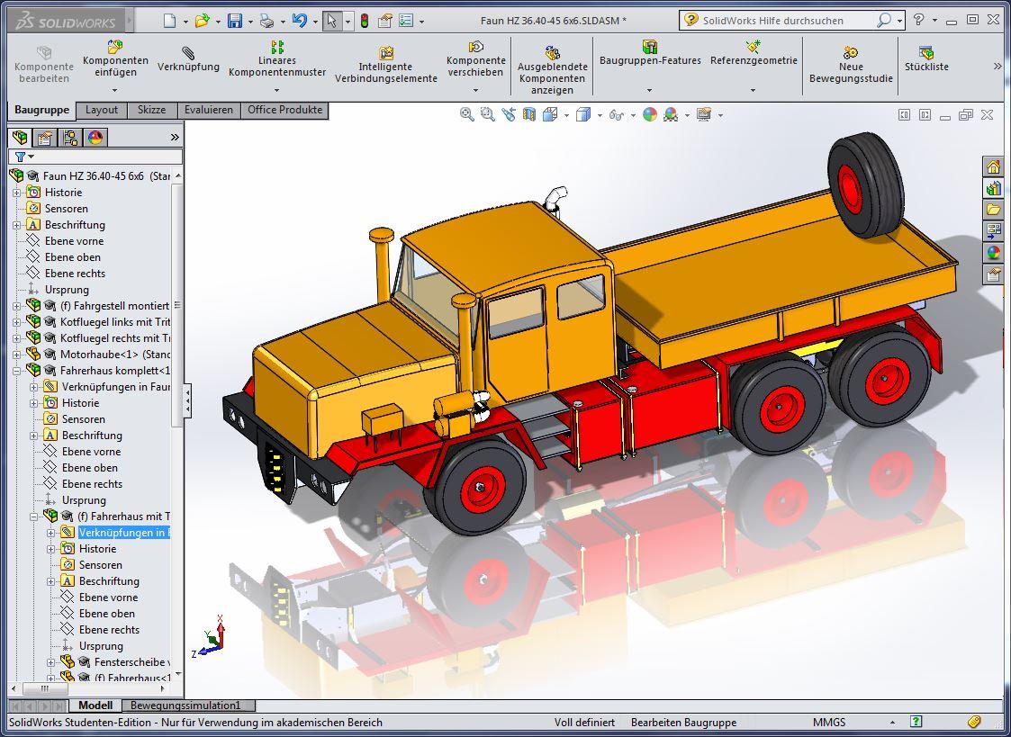 RC Trucks entwickelt mit SOLIDWORKS