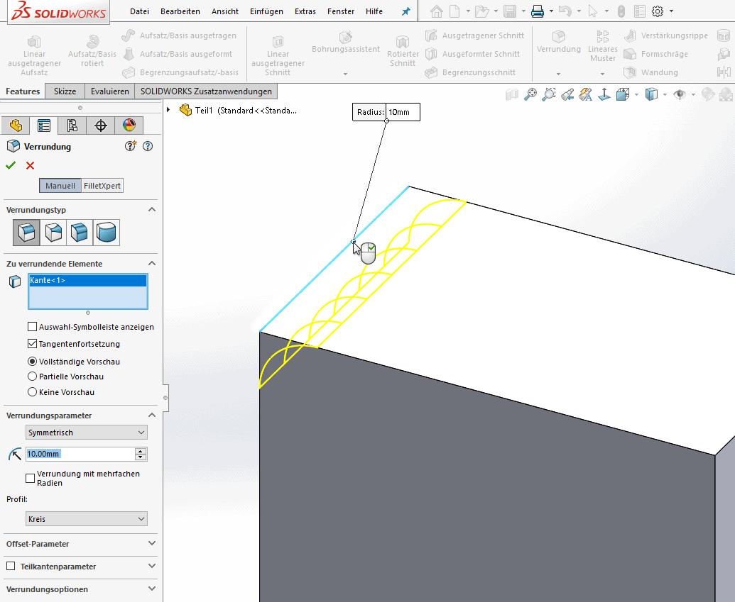 Vermeidbare Fehler bei der Konstruktion: Verrundungen und Fasen als Feature