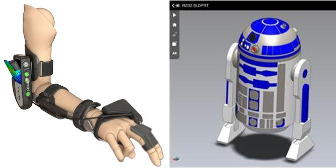 R2-D2  wird auf der Hannover Messe nicht gezeigt…aber die Entwicklung einer gesteuerten und beweglichen Armorthese mit SOLIDWORKS
