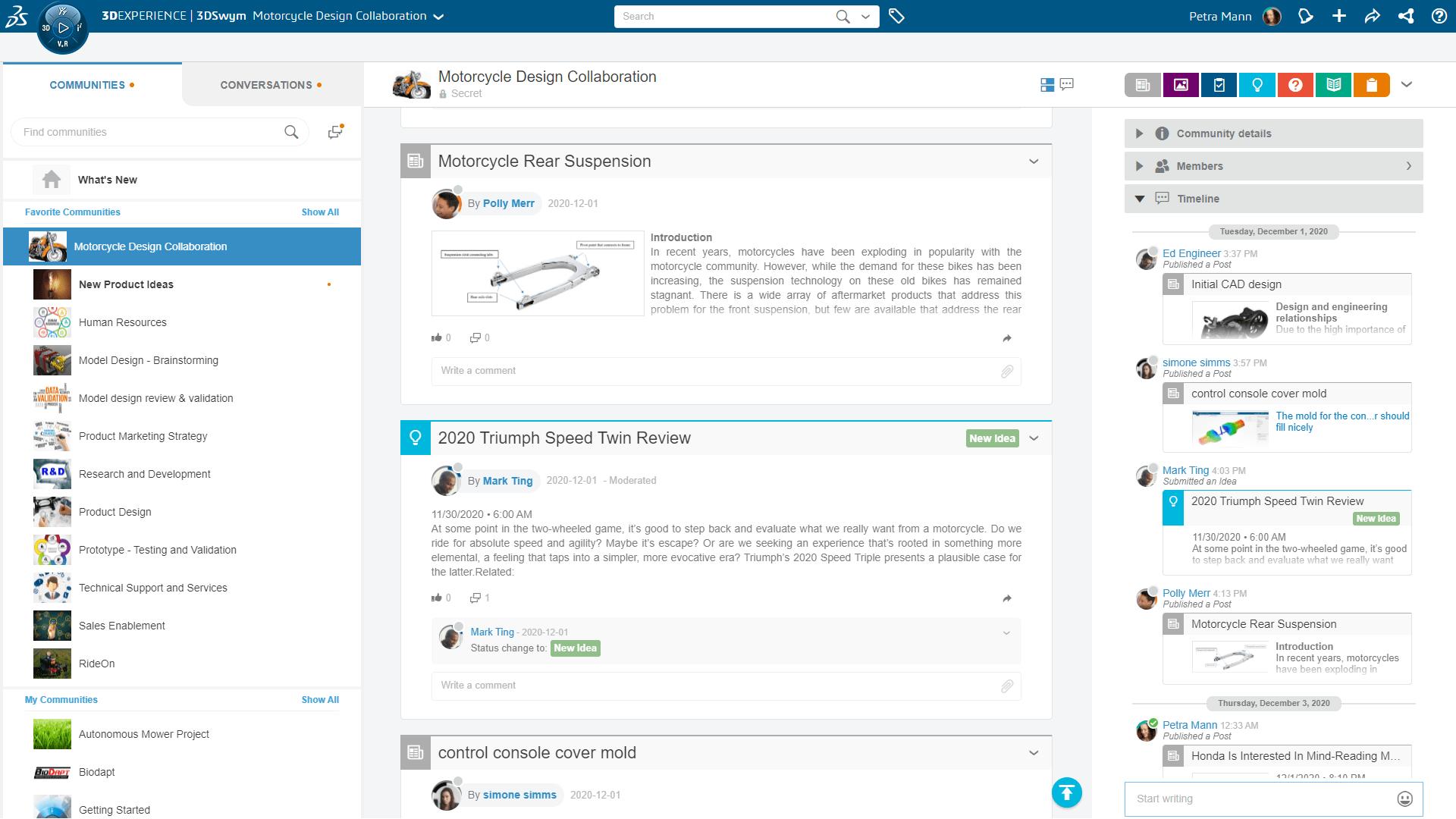 Gelegenheitslizenz-Funktion: Externe Stakeholder in 3DSwym-Communities einladen (Screenshot)