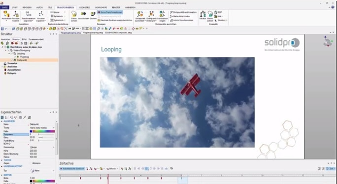 Video-Tipp! SOLIDWORKS Composer: Animation leicht gemacht – Flugzeuglooping