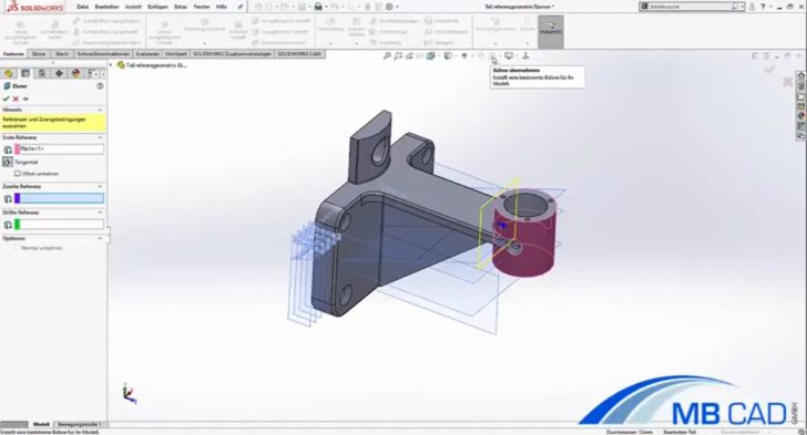 Video-Tutorial: Referenzebenen in SOLIDWORKS