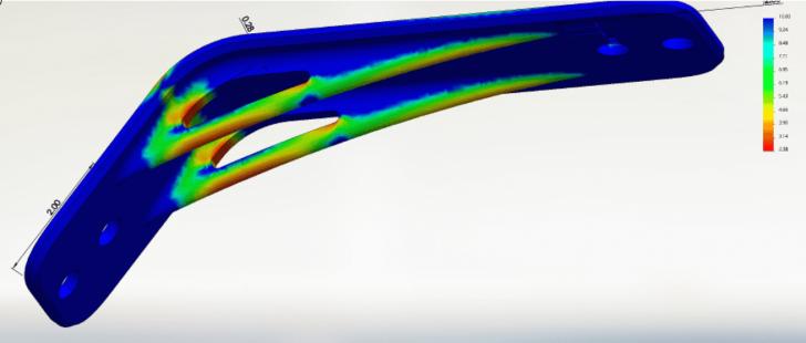 Produktivitätssteigerung: Lineare statische Finite-Elemente-Analyse mit Simulation Professional