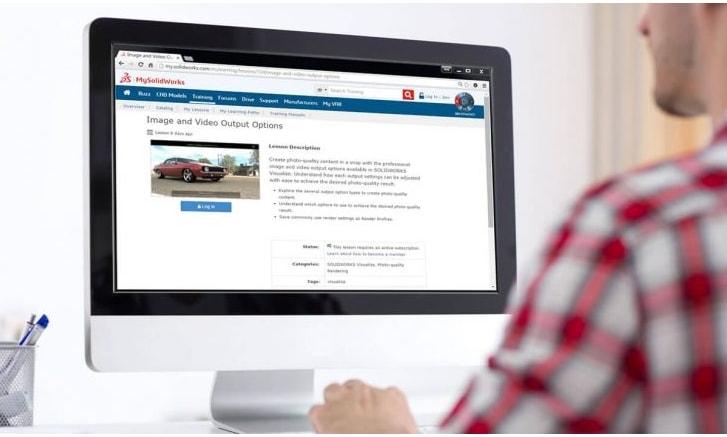 SOLIDWORKS bietet Zugriff auf Online-Schulungen und noch viel mehr – mit nur einem Klick