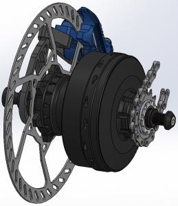 Die innovative REVOLUTE 6-Gang Nabenschaltung für E-Bikes ermöglicht ein knackiges und präzises Schalten mit einer Gesamtübersetzung von 400 %, auch unter Last.