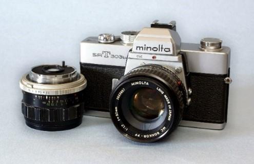 Analoge Minolta Kamera