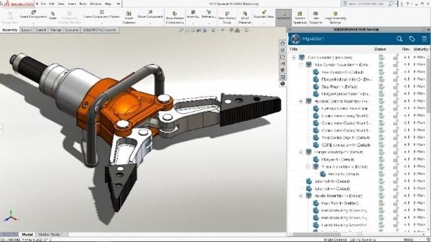 Aufgabenfenster in 3DEXPERIENCE Works Simulation