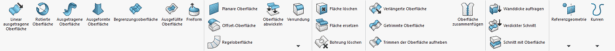 Screenshot SOLIDWORKS Oberflächen-Icons