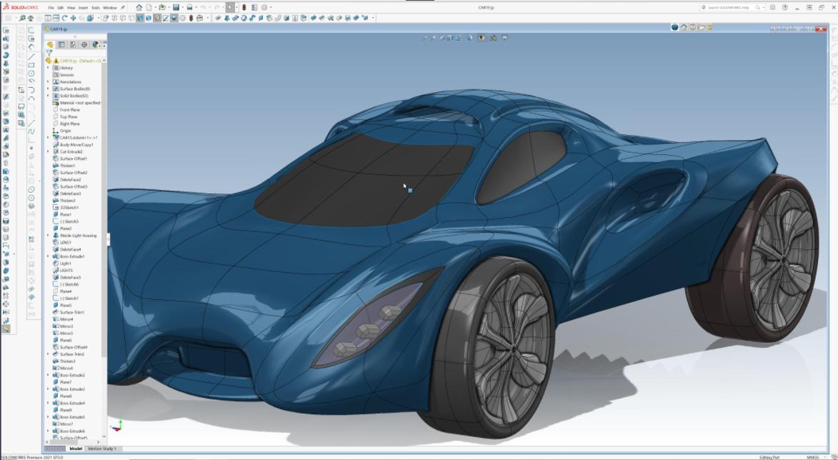 Arbeiten mit dem 3D Sculptor Modell in SOLIDWORKS Desktop