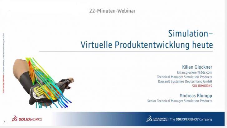 Webcast-Aufzeichnung: Simulation – Virtuelle Produktentwicklung heute