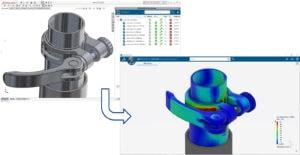 Die Verbindung zu 3DEXPERIENCE ermöglicht Simulationen des CAD-Modells