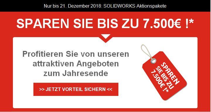 Das beste SOLIDWORKS aller Zeiten! Sparen Sie bis zu 7.500 Euro – nur für kurze Zeit!