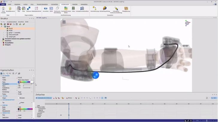 SOLIDWORKS Composer Animations-Serie Teil 3 – BEARBEITUNG