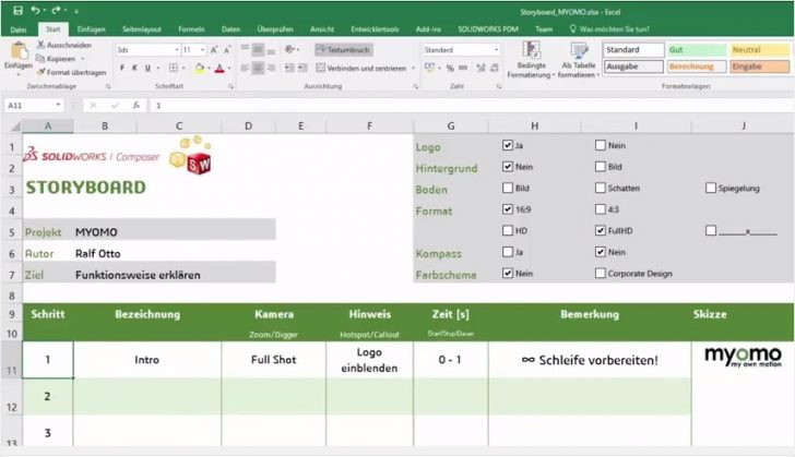 SOLIDWORKS Composer Animations-Serie Teil 1 – STORYBOARD