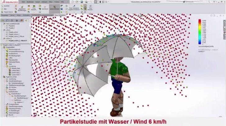 Video-Tipp! Sommer? Sonne? Regenwetter! SOLIDWORKS Flow Simulation hilft