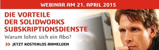 SOLIDWORKS Subskritionsdienste Webcast Einladung