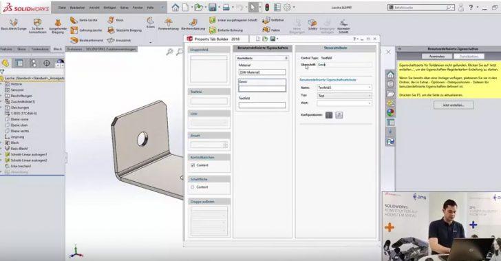 Video-Tipp! Erstellen einer Eigenschaften-Registerkarte in SOLIDWORKS