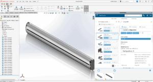 Bildschirmfoto eines Bauteils, Funktion von 3DEXPERIENCE PartSupply
