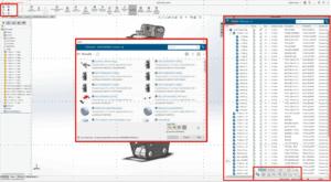 Bildschirmfoto von der Benutzeroberfläche der Plattform mit wichtigen neuen Funktionen, gekennzeichnet durch einen roten Rahmen