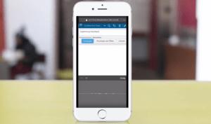 Aufgabenerstellung über Smartphone