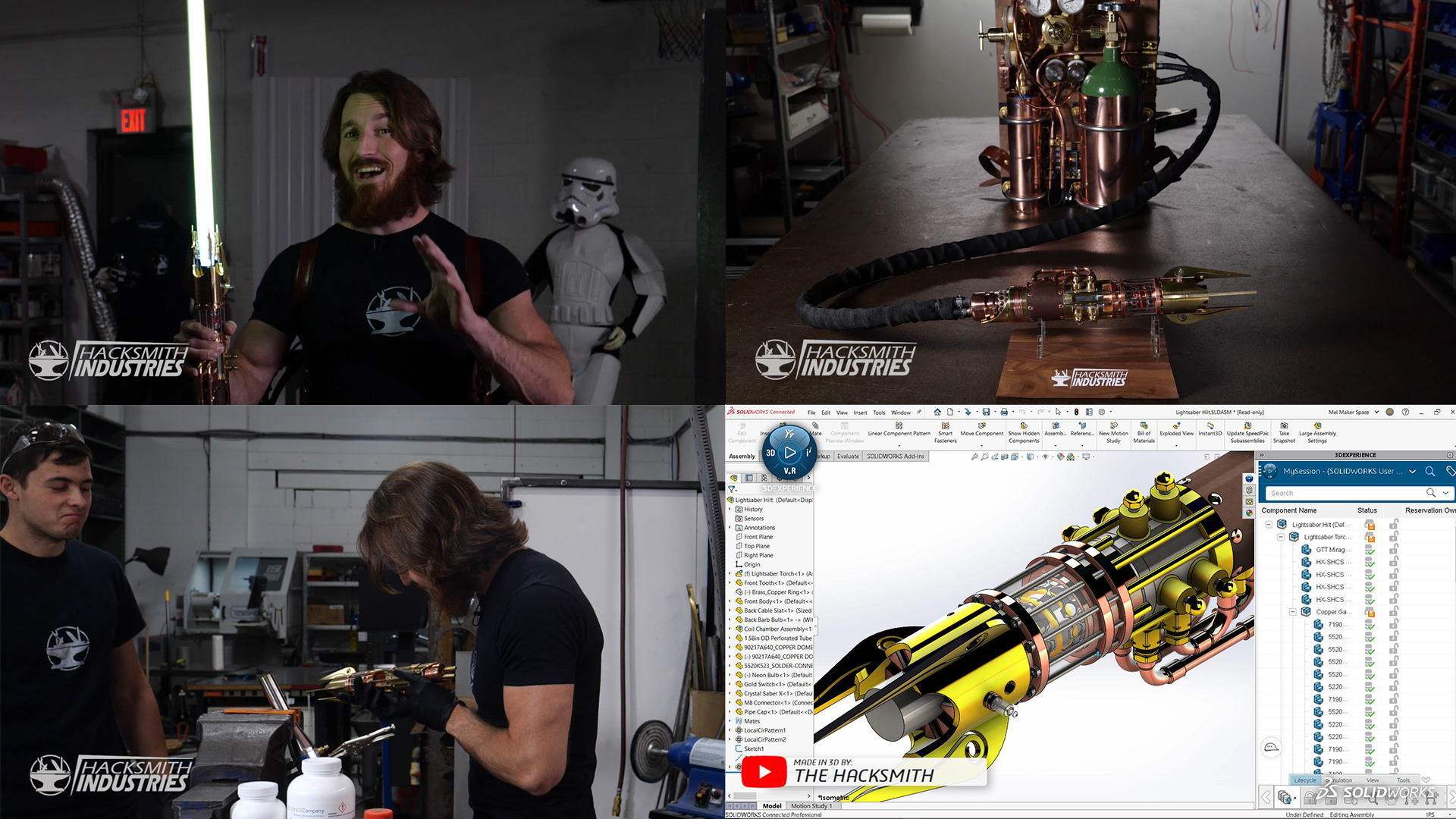 Screenshot: Hacksmith Industries YouTube-Video