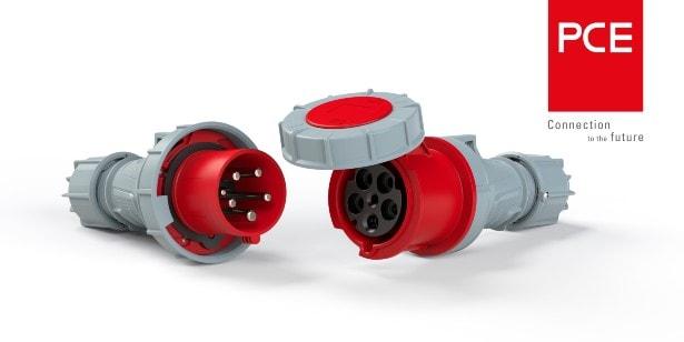 PCE Produktdarstellung von Kupplung und Stecker von PC Electric