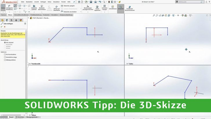 Video-Tipp! Die SOLIDWORKS 3D-Skizze
