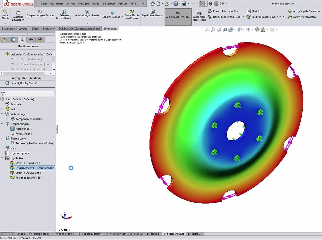 Topologieoptimierung 3D-Druck SOLIDWORKS