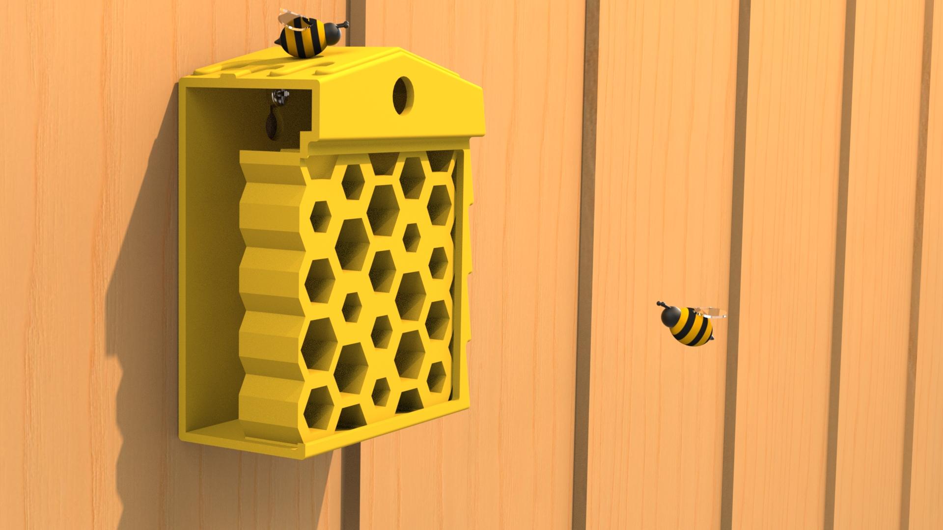 3D-Modell eines Bienenstocks