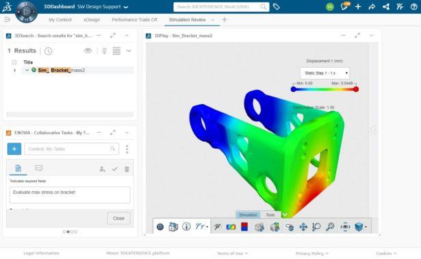 3DEXPERIENCE Works Simulation: Überprüfung der Simulationsergebnisse innerhalb eines Browsers