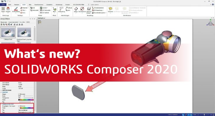 Was ist neu in SOLIDWORKS Composer 2020?