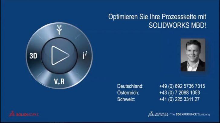 Webcast-Aufzeichnung: Optimieren Sie Ihre Prozesskette mit SOLIDWORKS Model Based Definition (MBD)