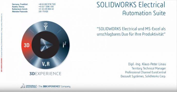 Webcast-Aufzeichnung: SOLIDWORKS Electrical 2017 Automation Suite