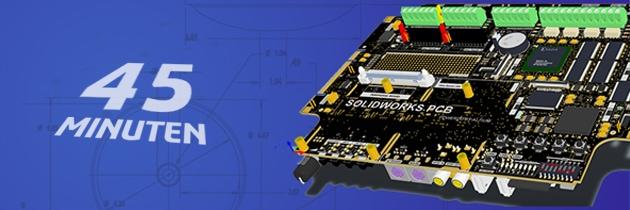 Webinar: Elektronische Entwicklung von Leiterplatten direkt im Gehäuse mit SOLIDWORKS PCB