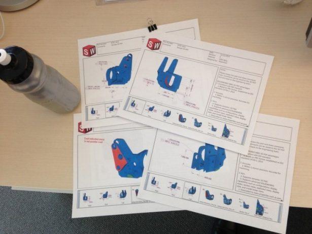 Papierausdruck des SOLIDWORKS MBD 3D-PDFs