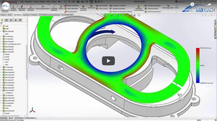 SOLIDWORKS Video-Tutorial: Abgewickelte Oberfläche