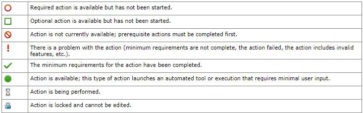 Screenshot: Statusdefinition im Simulationsassistent