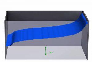 Berechnung der Bewegung von Flüssigkeiten mit SOLIDWORKS Flow Simulation 2018
