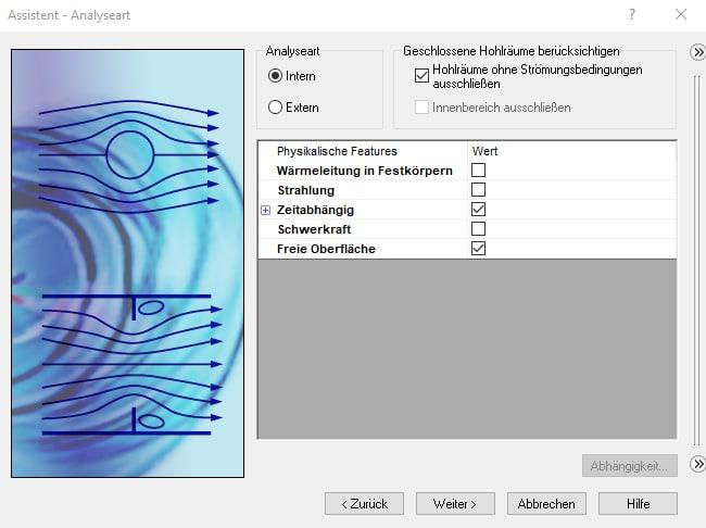 Neue Berechnungsmöglichkeiten in SOLIDWORKS Flow Simulation 2018: freie Oberflächen