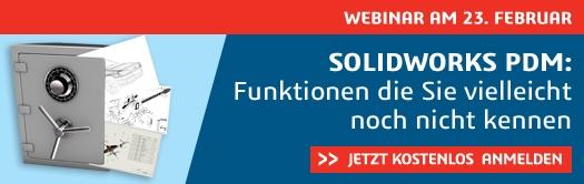 Webinar: SOLIDWORKS PDM 2018 – Funktionen die Sie vielleicht noch nicht kennen