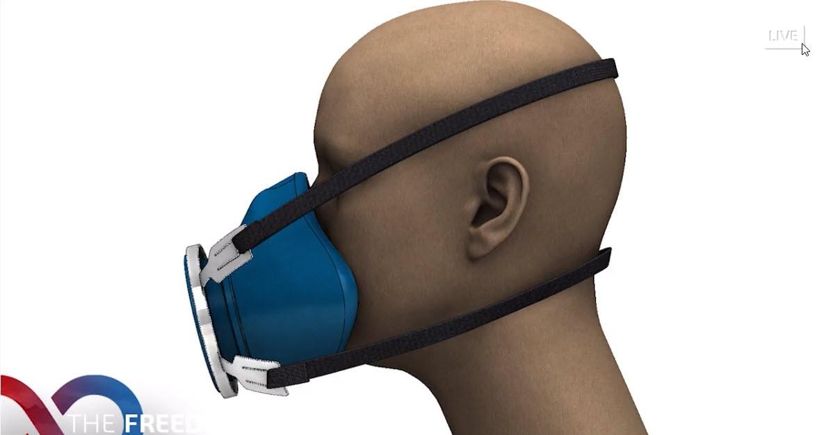 Modell einer Open-Source-Konstruktionen für Gesichtsmasken