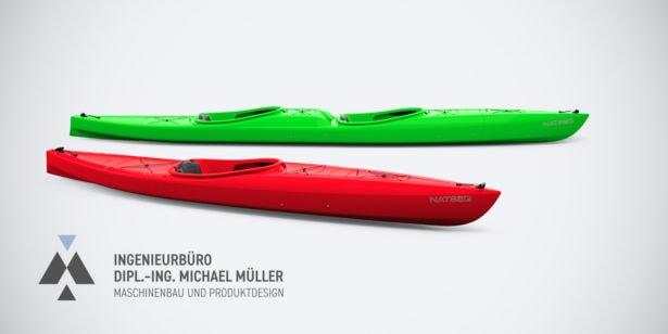 Rendering Tandem von Kayak Innovations