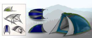 Jason Pohls Zeichnung von Zelten