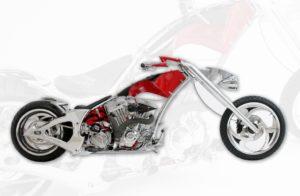 Chopper-Design: Entwurf eines individuellen Motorrads für die Dassault Systèmes Cafeteria in Waltham (Massachusetts)