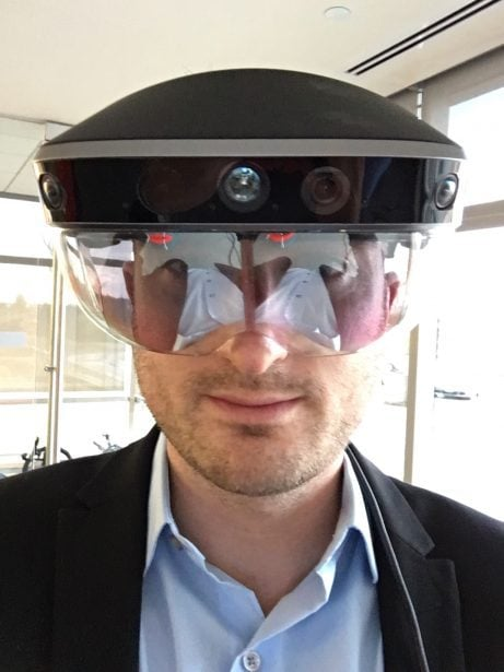 Virtual Reality (VR) und virtuellen Realität und in der Augmented Reality (AR) fühlen