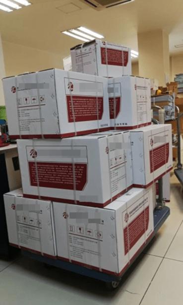 Abbildung 2: Versandfertige Kartons mit Zeichnungsausdrucken