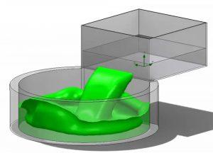 Optimierung der Befüllung eines Behälters mit SOLIDWORKS Flow Simulation 2018