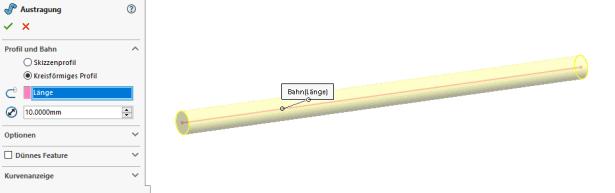 Durchmesser Austragung